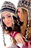 Young pretty girls making fun together Stock Images