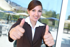 Young Pretty Hispanic Business Woman Stock Photo