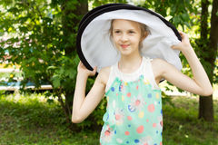 Young Pretty Kid on Fashion Photo Shoot Royalty Free Stock Images