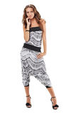 Young pretty lady in harem pants Royalty Free Stock Photo