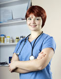 Young pretty lady nurse at hospital Royalty Free Stock Photos