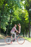 Young and pretty lovers Royalty Free Stock Images