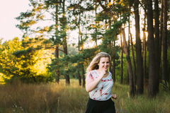 Young Pretty Plus Size Caucasian Happy Smiling Laughing Girl Wom Royalty Free Stock Photos