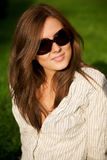 Young pretty smile girl in sunglasses Royalty Free Stock Photo