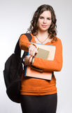 Young pretty student girl. Royalty Free Stock Image