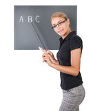Young pretty teacher stock image
