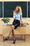 Young pretty teacher resting Royalty Free Stock Image