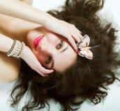 Young pretty woman Stock Photos