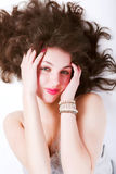Young pretty woman Stock Images