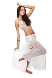 Young pretty woman belly dancer Royalty Free Stock Photo