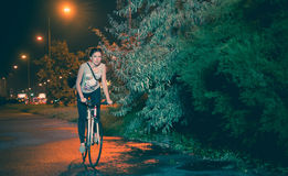 Night ride royalty free stock photography