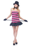 Young pretty woman dancing Stock Images