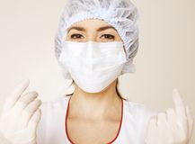 Young Pretty Woman Doctor With Stethoscope Royalty Free Stock Images