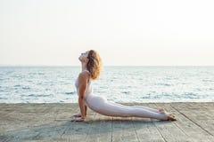 yoga and nature stock photos