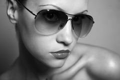Young pretty woman with glasses Stock Photo