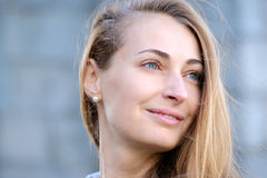 Young pretty woman head Royalty Free Stock Image