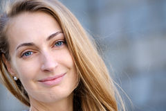 Young pretty woman head Stock Photos