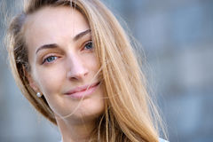 Young pretty woman head Stock Photography