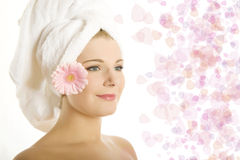 Young pretty woman with healthy pure skin Stock Image