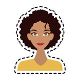 Young pretty woman icon image Royalty Free Stock Image