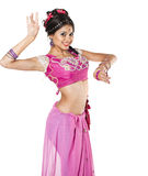 Young pretty woman in indian dress Stock Images
