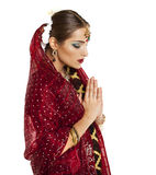 Young pretty woman in indian dress Royalty Free Stock Images