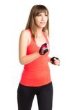 Young  pretty woman jogging on training Royalty Free Stock Photos