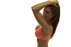 Young pretty woman with lingerie Royalty Free Stock Image