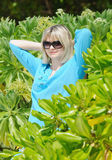 Young pretty woman in mangrove Royalty Free Stock Photo