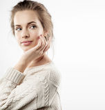 Young pretty woman with natural make-up Royalty Free Stock Photos