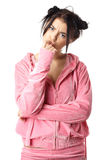 Young pretty woman in pajamas Stock Image