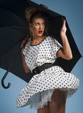 Young pretty woman pinup portrait Stock Photography