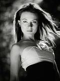 Young pretty woman portrait. royalty free stock image