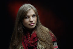 Young pretty woman portrait Stock Photography