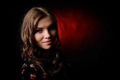 Young pretty woman portrait Stock Photos