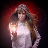 Young pretty woman portrait in studio Royalty Free Stock Images