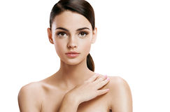 Young pretty woman with professional make-up, skin care concept Royalty Free Stock Photo
