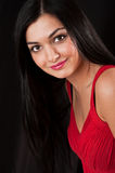 Young pretty woman in red Royalty Free Stock Images