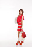 Young pretty woman with shopping bags Stock Image