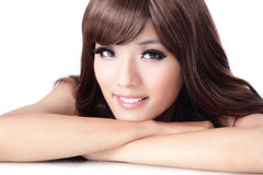 Young pretty woman Smiling face Stock Photos