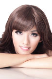Young pretty woman Smiling face Royalty Free Stock Photography
