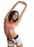 Young pretty woman in sports wear isolated on Royalty Free Stock Image
