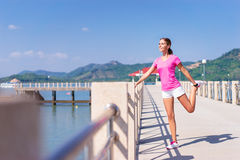 Young pretty woman stretching Stock Photography