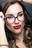 Young pretty woman. Studio fashion portrait. Royalty Free Stock Image