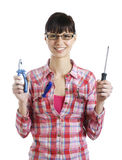 Young women with tools Stock Photography