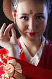 Young pretty woman wearing kimono stock images