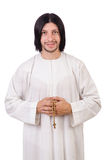 Young priest with bible Royalty Free Stock Images