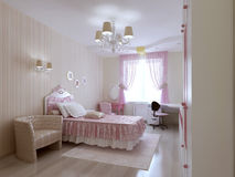 Young princess bedroom Stock Photography