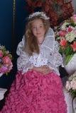Young princess  among the flowers Stock Image