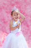 Young princess with a funny expression Stock Photo